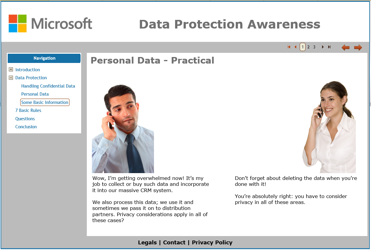 Microsoft Privacy Awareness Training