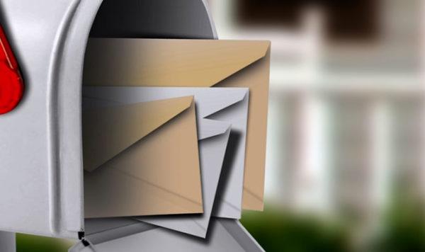 Werbung per Post zu Marktforschungszwecken
