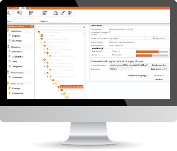 Datenschutz Software Prüfungen