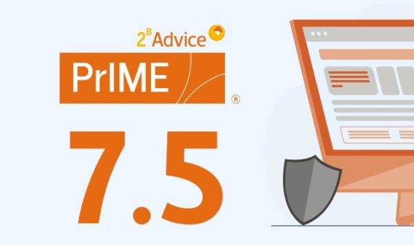 2B Advice announces version 7.5 of the 2B Advice PrIME privacy compliance software