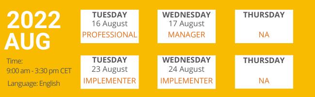 August 2022 Workshops