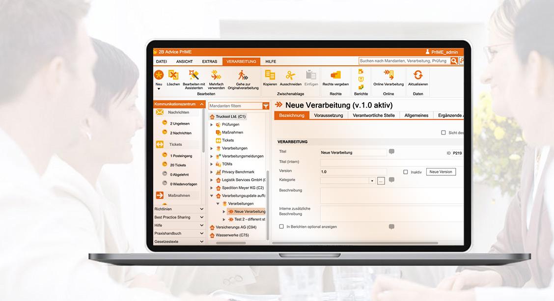 Datenschutz-Software Verarbeitungstätigkeiten